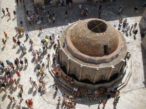 La fontana della Old City a Dubrovnik