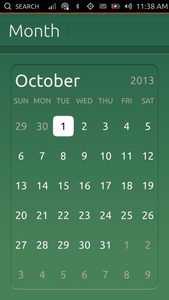 Calendario - vista mensile