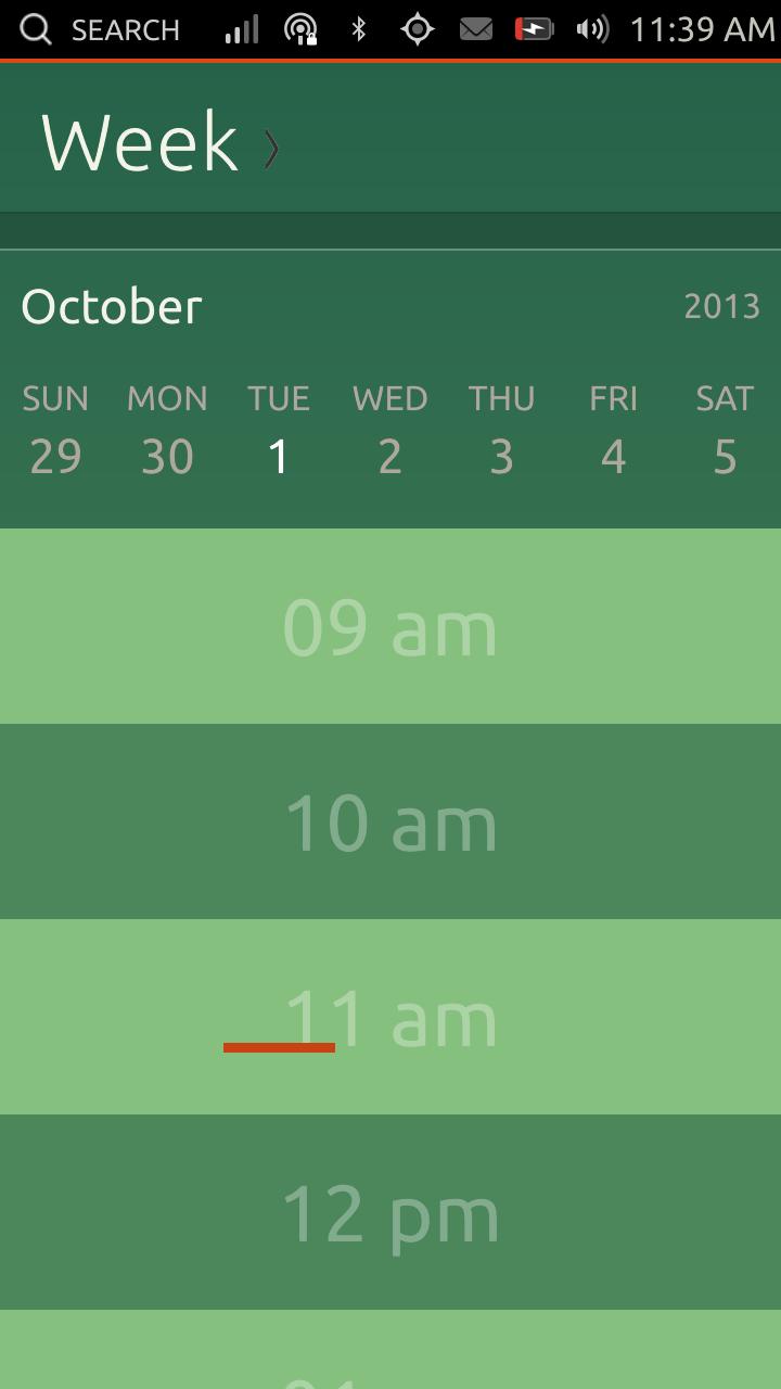 Calendario - vista giornaliera