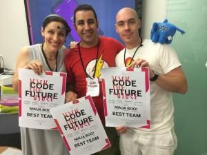 NinjaBoo, the winner team of CodeForFuture