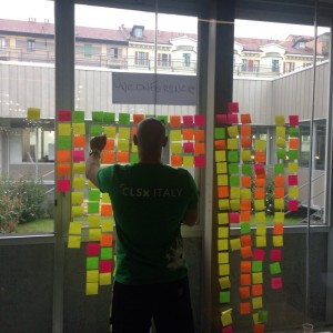 Me rearranging unconference proposals