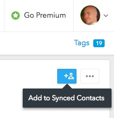 Add to Synced Contacts option in FullContact