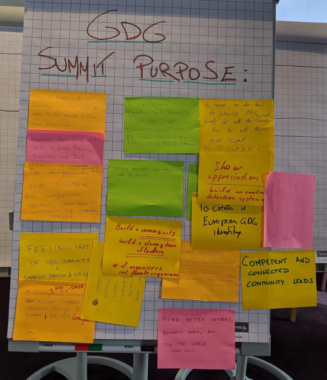 GDG Summit Purposes