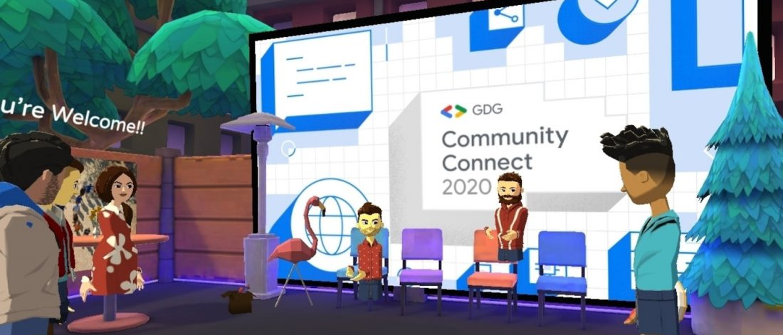Organize a community event in virtual reality